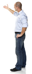caucasian standing man