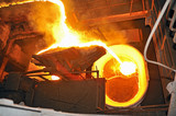 pouring molten steel poster