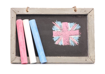 Chalkboard and chalk studio cutout