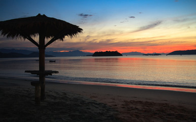 Paraty beach sunset