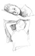 Skizze: schlafende Frauen