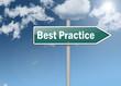 """Signpost """"Best Practice"""""""
