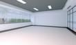 3d interno stanza vuota ufficio vuoto da arredare