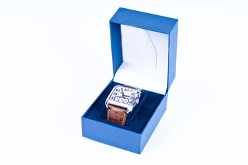 Watch in blue box