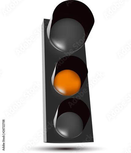 feu tricolore orange fichier vectoriel libre de droits sur la banque d 39 images. Black Bedroom Furniture Sets. Home Design Ideas