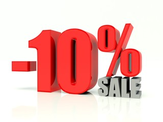 Ten percent off sale