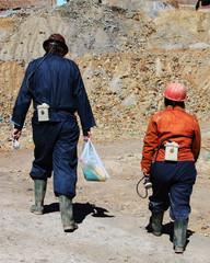 minatori al lavoro