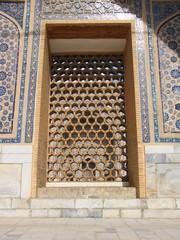 detail of Minarets of Registan, Samarkand, Uzbekistan
