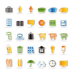 Business and office icons - vector icon set