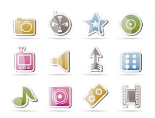 Entertainment and media Icons - Vector Icon Set