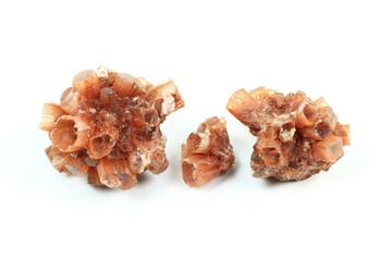 Aragonite crystals macro picture.