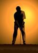 Stock illustration of a golfer
