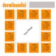 Calendario 2011 quadrato arancio