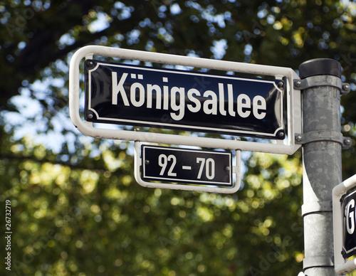 Strassenschild Königsallee Düsseldorf