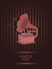 vintage design with gramophone