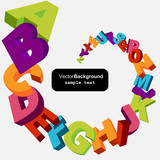Fototapety colorful 3d alphabet letters vector background