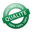 Tampon 100% QUALITE (qualité garantie totale service publicité)