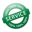 "Tampon ""100% SERVICE"" (clients aide contact assistance qualité)"
