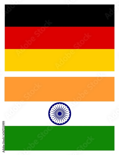flags, Germany and India