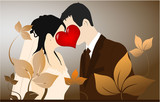 Young Couple - love illustration