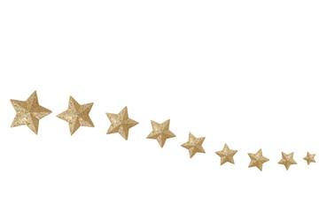 Christmas estrellas doradas fondo blanco