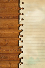 old paper and brown wood texture .