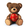 Teddy bear with christmas ornament