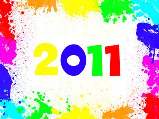 2011, cadre tâches de peinture