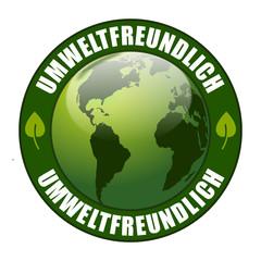 Umweltfreundlich Plakette