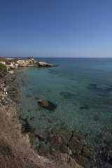 View of italian sea