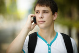 teen on the phone poster