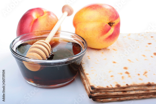 Matzah and nectarine