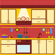 cucina vettoriale giallina