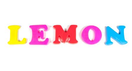 lemon written in fridge magnets