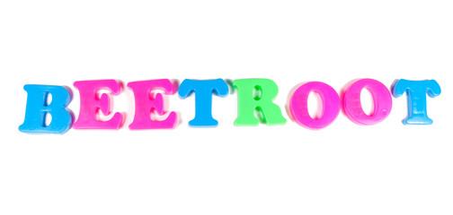 beetroot written in fridge magnets