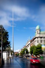 Transportation in Dublin. City Center symbol - spire