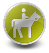 """Yellow Glossy Icon """"Horse Trail"""""""