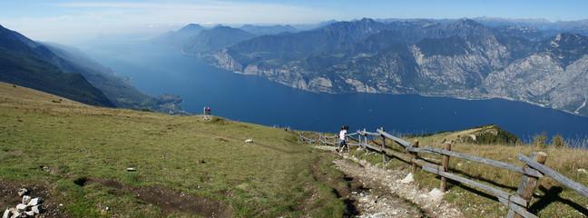 Blick vom Monte Baldo am Gardasee