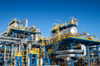 Leinwanddruck Bild - Oil industry equipment installation
