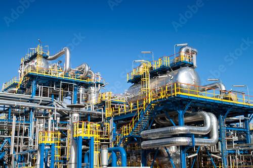 Leinwanddruck Bild Oil industry equipment installation
