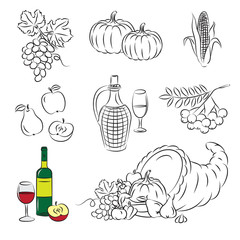 "Set of Vector Clipart ""Autumn Harvest"""