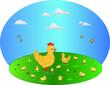 gallina con piccoli