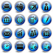 business Blue Button