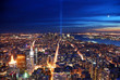 New York City aerial view at night
