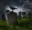Cemetery with old gravestones