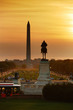 National mall sunset, Washington DC