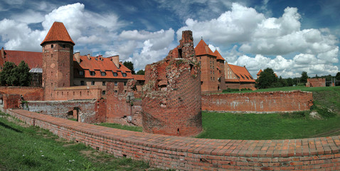 The old castle in Malbork - Poland.