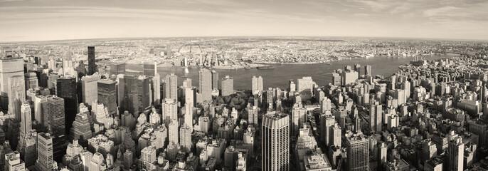 New York City Manhattan panorama aerial view
