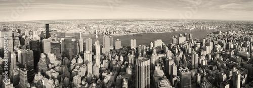 Manhattan z lotu ptaka- styl vintage