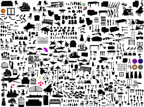 miscellaneous objects collection - vector - 26751705